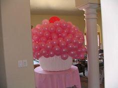Balloon Cupcake Sculpture - Candy Land Themed Event