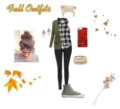 """Fall Outfits"" by stellastellahankinson ❤ liked on Polyvore featuring Topshop, American Eagle Outfitters, LE3NO, Converse, Kendra Scott, Serefina and Crate and Barrel"