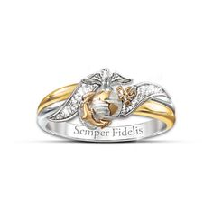 USMC Diamond Ring (My hubby is Army, but isn't this lovely?)