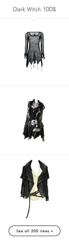 """Dark Witch 100%"" by ohnopaula ❤ liked on Polyvore featuring tops, hoodies, sweatshirts, dresses, shirts, sweaters, goth shirts, heavy shirt, gothic shirts and shirt top"