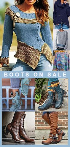 Women Sweaters&Boots Now OFF! Use promo code Shop now! Women Sweaters&Boots Now OFF! Use promo code Shop now! Young Fashion, Look Fashion, Womens Fashion, Fall Sweaters For Women, Trendy Outfits, Fall Outfits, Sweater Boots, Country Outfits, Online Shopping For Women