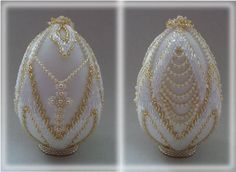 Seed Bead Crafts, Diy Crafts Jewelry, Egg Crafts, Easter Crafts, Egg Shell Art, Beaded Ornament Covers, Beaded Boxes, Egg Designs, Beaded Christmas Ornaments
