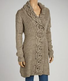 Take a look at this Oatmeal Wool-Blend Duster by Cozy in the Cold: Sweaters & Ponchos on @zulily today!