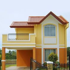 Explore exterior photos for a variety of architectural designs, exterior house colours, cladding options and more home exterior ideas. 2 Storey House Design, Small House Design, Modern House Design, Dream House Plans, Modern House Plans, Style At Home, Bungalow Haus Design, Modern House Facades, Exterior Paint Colors For House