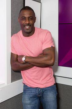 Idris Elba visits Kiss FM Studios in London, England.