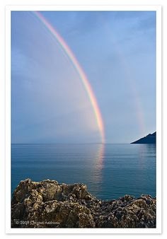 GREECE CHANNEL | Rainbow, Skoutari, Mani, Greece Beautiful Islands, Beautiful Places, Corinth Canal, Fuerza Natural, Places In Greece, Mycenae, Tornados, Santorini Greece, Natural Phenomena