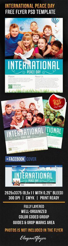 International Peace Day – Free Flyer PSD Template + Facebook Cover https://www.elegantflyer.com/free-flyers/international-peace-day-free-flyer-psd-template-facebook-cover/