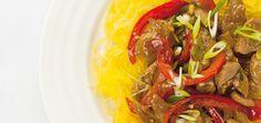 Courge spaghetti et sauté de porc asiatique Recettes | Ricardo  Excellent avec plus de légumes