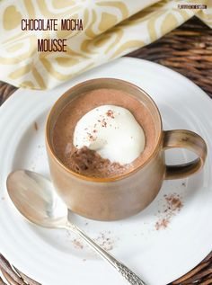 Chocolate Mocha Mousse is rich, chocolatey, and indulgent. It's quick and easy, and is a great make ahead dessert!