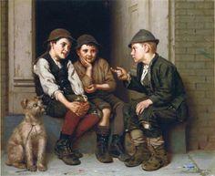 Plotting Mischief by John George Brown