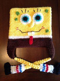 Spongebob Squarepants inspired Crochet hat by MelissasCrochetart