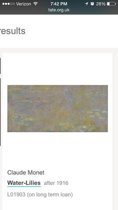 Claude Monet 1916 water lilies Impressionism