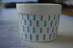 Hand-Painted Bowl / Blue Tree Pattern on Ceramic Ramekin / Jewelry or Trinket Bowl / Decorative Organizer / Candy Dish by 7thStreetHaven on Etsy