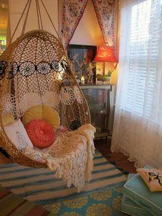 Swing chair. #Home #Decor.