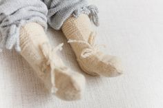 BABY SOCKS Knit  Wool socks off white natural wool by MarumaKids