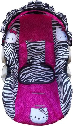 Hello Kitty  infant car seat cover custom by dreammakersdesign, $100.00