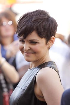 I don't have any interest in cutting my hair this short--ever--but let me just say that she looks great with this hair!