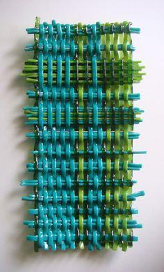 Woven Glass Wall Sculpture    http://youtu.be/Jh6aAFtz4B8