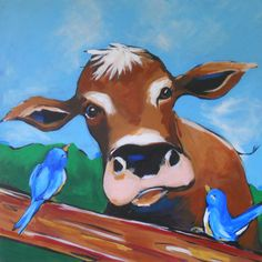 109 Best ATC Inspiration - Whimsical Cows images in 2018 | Cow art