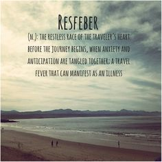 Resfeber travel Fear Of The Unknown, The Restless, How I Feel, Journals, Anxiety, Feelings, Beach, Travel, Outdoor