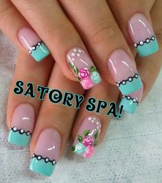 Having short nails is extremely practical. The problem is so many nail art and manicure designs that you'll find online Cute Nail Art, Beautiful Nail Art, Cute Nails, Pretty Nails, Fingernail Designs, Toe Nail Designs, Nails Design, Fabulous Nails, Gorgeous Nails