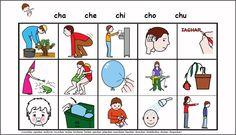 MATERIALES - Fonema CH.    Varias actividades y soportes para trabajar el fonemas /ch/ y su integración en el lenguaje espontáneo.    http://arasaac.org/materiales.php?id_material=738