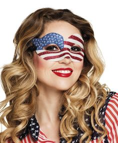 USA-silmikko 4 July Usa, Fancy Dress Accessories, Super Bowl, Flag, Unisex, American, Glitter Eye, Pattern, Patterns
