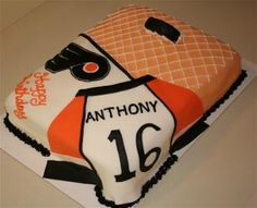 Philadelphia Flyers Hockey Cake this would be better if it was Pittsburgh Penguins