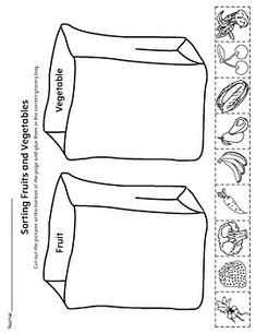 **FREE** Sorting Fruits and Vegetables in Grocery Bags Worksheet.Help your child identify the difference between fruits and vegetables by sorting the pictures into the correct grocery bag in this science printable worksheet. Kindergarten Worksheets, Worksheets For Kids, Preschool Activities, Free Preschool, Preschool Kindergarten, Nutrition Activities, Weather Worksheets, Spanish Worksheets, Multiplication Worksheets