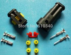 Free Shipping 100sets=1300pcs 2Pin/way HID Waterproof Electrical connector kit (Housing+Terminal+grommet+Other) for car boat