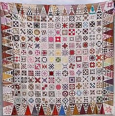 Dear Jane Quilt. Another variation. So, so many little blocks.