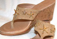 83c4ee27298d3d TOMMY BAHAMA Women s Madira Starfish Sandal- 158 Sand Leather Cork 9.5 NEW  N BOX. Starfish SandalsClothing ...