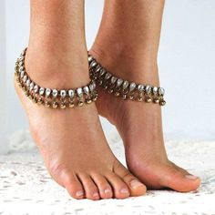 Beautiful Anklets ! Boho style, Silver and Gold with bells.