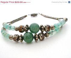 On Sale Green Aventurine Bracelet Silver by TheJewelryLadysStore, $18.04
