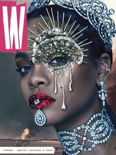Rihanna Graces The Cover Of 'W' Magazine. Rihanna slays again with her latest W Magazine cover. Donning some highly sought after Cartier bling — and some Rihanna E, Rihanna Cover, Rihanna Crown, Rihanna Baby, Rihanna Nails, Rihanna Music, Rihanna Style, W Magazine, Magazine Covers