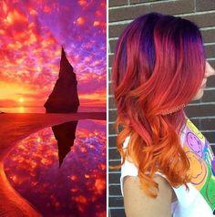 Colores de pelo atrevidos inspirados en el espacio  @imgur