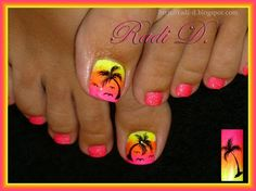 pin on nails Palm Tree Toe Nail Designs Gallery pin on nails Palm Tree Toe Nail Designs. Here is Palm Tree Toe Nail Designs Gallery for you. Palm Tree Toe Nail Designs palm tree toenail toe nail designs fancy na. Beach Toe Nails, Cute Toe Nails, Summer Toe Nails, Fancy Nails, Toe Nail Art, Neon Toe Nails, Beach Nail Art, Trendy Nails, Summer Beach Nails