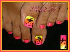 My summer toes by RadiD - Nail Art Gallery nailartgallery.nailsmag.com by Nails Magazine www.nailsmag.com #nailart