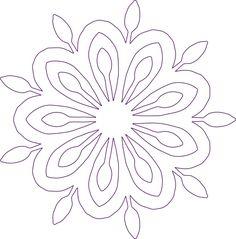 Hand Quilting Patterns, Quilting Stencils, Applique Patterns, Quilting Designs, Leaf Template, Flower Template, Templates, Mandala Pattern, Mandala Design