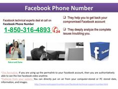 https://issuu.com/carlyfiorina250/docs/facebook_phone_number4.pptx_61fb015908f3d0   Why do we need to put a call at Facebook Phone Number 1-850-316-4893?    Facebook Phone Number    Here are the reasons why you need to put a call at Facebook Phone Number 1-850-316-4893:- oThis facility is totally free of cost. oExperts can be asked for the help at any time of day. oServices can be delivered every part of the world. http://www.mailsupportnumber.com/facebook-technical-support-number.html