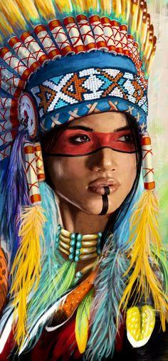 American Art, Art Painting, Wall Art Painting, Native American Girls, Indian Art, Painting, Art, Native American Paintings, Indian Tattoo