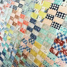 #wip #twobyfourquilt #cottonandsteel #siennafabric #stitchfesttx #doorprize Jellyroll Quilts, Scrappy Quilts, Baby Quilts, Patch Quilt, Small Quilts, Quilting Tips, Vintage Quilts, Square Quilt, Fabric Scraps
