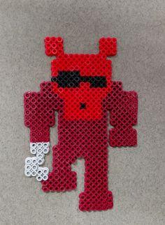 Foxy Perler by NomDePixel  Foxy fnaf perler / hama bead
