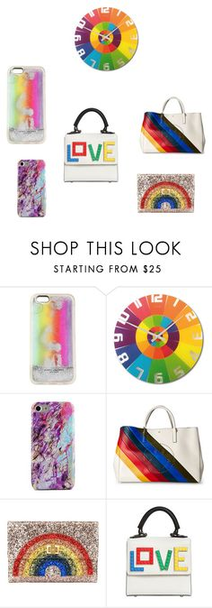 """""""Arc en ciel"""" by audjvoss ❤ liked on Polyvore featuring Marc Jacobs, NeXtime, Anya Hindmarch and Les Petits Joueurs"""