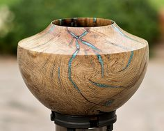 Lathe Projects, Wood Turning Projects, Wooden Vase, Wooden Bowls, Wooden Sculptures, Sculpture Art, Wood Ideas, Wood Carving, Wood Art