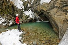 Eisklettern in einer malerischen Schlucht Kirchen, Trekking, Austria, Mountains, Water, Outdoor, Ice Climbing, National Forest, Gripe Water
