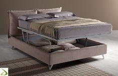Letto matrimoniale imbottito contenitore con testiera inclinabile Cool Beds, Bedroom Inspo, Decoration, Pattern Design, Sweet Home, New Homes, House Design, Colours, Blanket