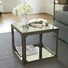 Mirabelle Mirrored Bunching Table | Ballard Designs