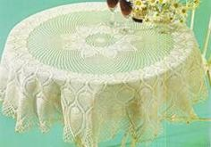 Tablecloth Lotus Flowers  crochet schemes with instruction
