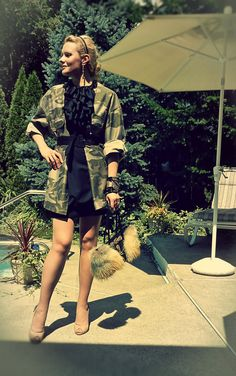 Classing up camo, love it Military Girl, Military Jacket, Church Outfits, Church Clothes, Fur Purse, Camouflage Jacket, Camo Shirts, Camo Baby Stuff, Latest Trends